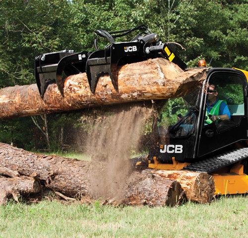 JCB Skid Steer with Brush Grapple